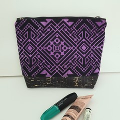 Purple deco cosmetics bag