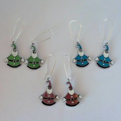 Santa Claus dangle earrings