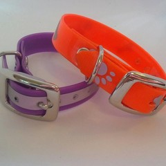 Reflective pvc dog collars / ferret collars