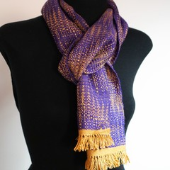 Handwoven Silk and Wool Scarf