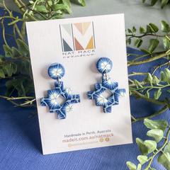 Shibori Collection - Inca Cross Stud Dangle