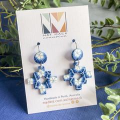 Shibori Collection - Inca Cross Hook Dangle