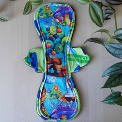 "12"" Moderate exposed core cloth pad (Leak Freak Flutter)"