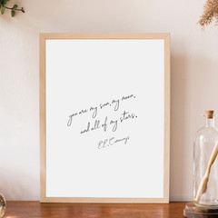 Printable Wall Art | You Are My Sun, My Moon And All Of My Stars