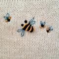 Hand-Embroidered Baby Nursery Blanket Cotton Knit Bassinet CotPram Baby Shower