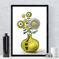 Abstract Flowers in a Vase, Printable, Instant download, Digital download