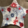 Star shaped cuddlee for baby