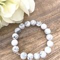 10mm Howlite Faceted Natural Gemstone Crystal Healing Bracelet - Wedding Birthda