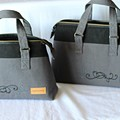 set of two handbags, mother and daughter set