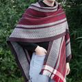 Handwoven 100% Merino Wool Ruana Shawl Wrap