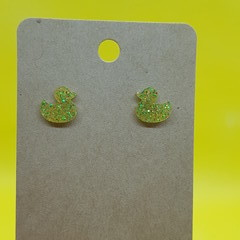 Resin rubber ducky stud earrings