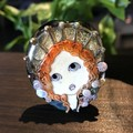 Handmade Glass Lampwork Angel Doll Bead OOAK