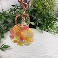 Round Resin Keyring - CITRUS Buttons - Bag Tag - Luggage Identifier