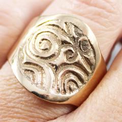 Spiral Bronze Statement Ring
