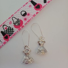 Silver dress charm / fashion earrings