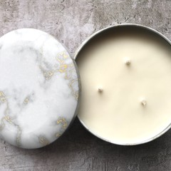 Marble Triple Wick Soy Candle - select your fav fragrance