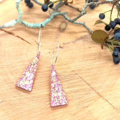 Pink Glitter Vibes Statement Dangles Collection