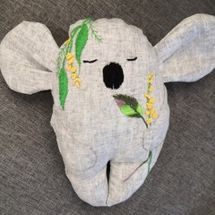 Linen Embroidered Koala