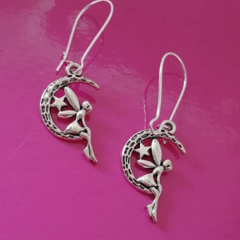Silver fairy charm / fantasy earrings