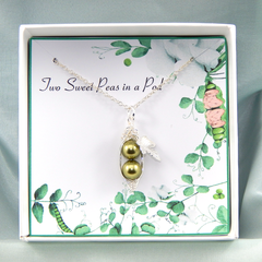 Two Peas In a Pod Necklace,Peas In A Pod necklace