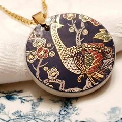 Oriental Peacock Pendant
