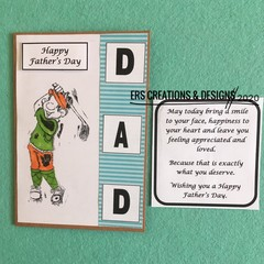 Father's Day Card Golfing Theme with Verse