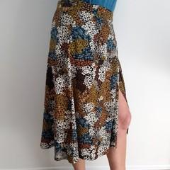 Autumn Patches  Wrap Skirt M/L