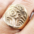 Spiral Bronze Statement Ring