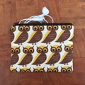 Owl print coin purse
