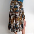 Autumn Patches  Wrap Skirt M/L