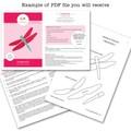 Dragon Applique Pattern PDF Template Applique Design