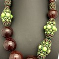 'Carolina' necklace - hand blown one-of-a-kind glass bead necklace