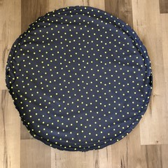 Play mat bag -Grey yellow spots