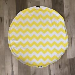 Play mat bag  -Yellow Zigzag