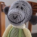 Murray the Monkey - crochet unisex, washable, OOAK by CuddleCorner