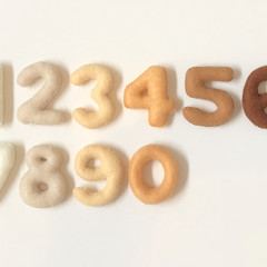 Natural Colours Felt Numbers