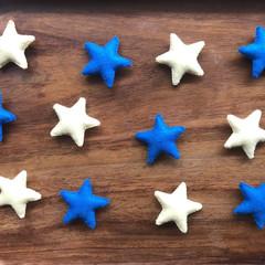 Waldorf wool felt stars 12 pack, Loose parts stars, wool felt loose stars