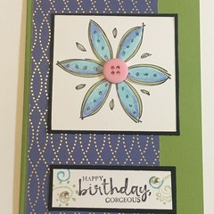 Birthday Card - Flower