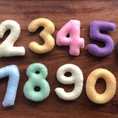 Pastel Felt number set, Felt numbers