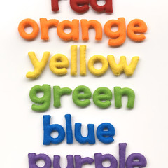 Colours letters in felt