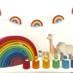 Rainbow colours Felt Garland