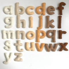 Natural colour Lowercase Felt Alphabet