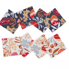 Australian native floral reversible coaster - Aussie floral
