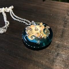 Handmade Ocean Beach Design Glass Disc