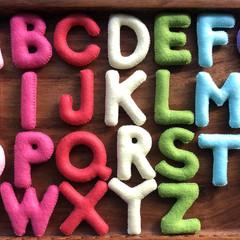 Warm Pink Felt Alphabet , Educational Gifts, Preschool Basics