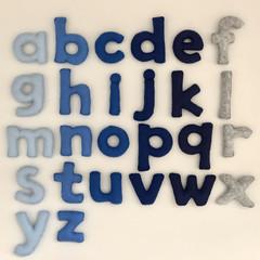 Blue Lowercase Felt Alphabet