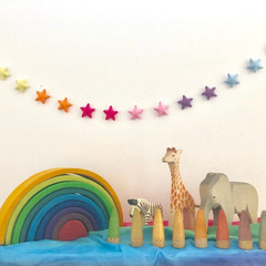 Felt Star Garland, Wall Decor, Children's bedroom