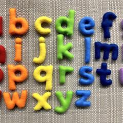 Lowercase Rainbow Felt Alphabet