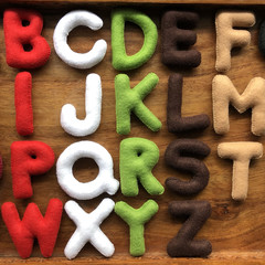 Christmas Felt Alphabet