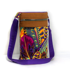 Feather Cross Body Tote